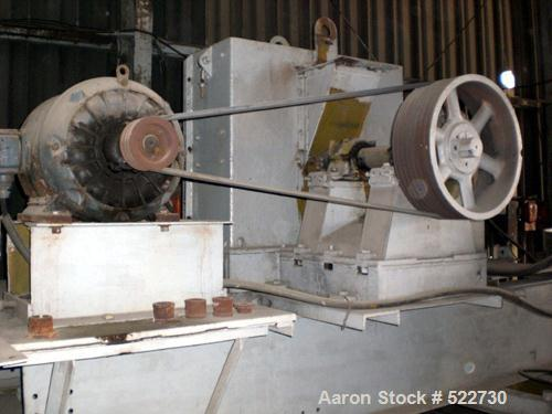 "USED: Eagle Crusher cage mill, model 38HI-77, 38"" diameter, 4 row, carbon steel, 60/30 hp."