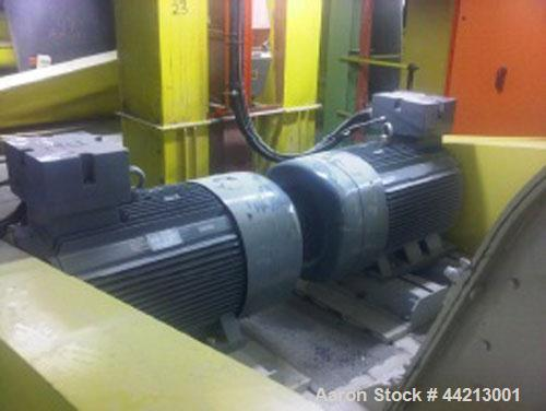 Used-Stedman Reversible Flared Housing Cage Mill, Model F-50J3-47.  6 Row configuration, (1) 160 kW V-belt drive, (1) 200 kW...