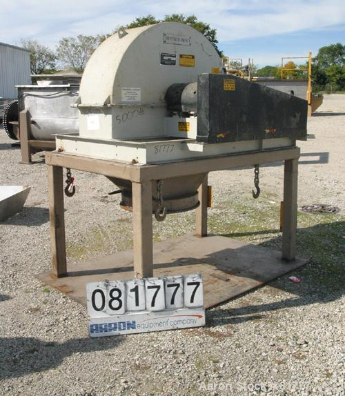 """USED: Stedman multi-row cage mill, model Y30H3-00. Carbon steel. 30"""" diameter x 12"""" wide 4 row counter rotating cages. Cage ..."""