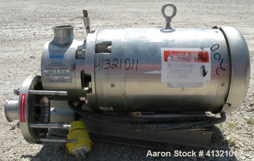 Used- Admix Inline High Shear Pump, Model BSP 24C, 316 Stainless Steel. Approximately 10 to 30 gallons per minute capacity, ...