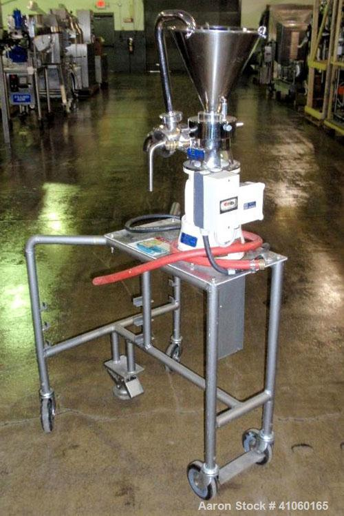 Used- Fryma Colloid Mill, Model MZ 50/A, stainless steel construction, rated 4 bar internal, jacketed for 7 bar with .75 kW,...