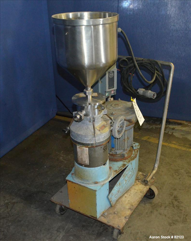 Used- Stainless Steel Greerco Vertical Colloid Mill, Model W250V-B-80