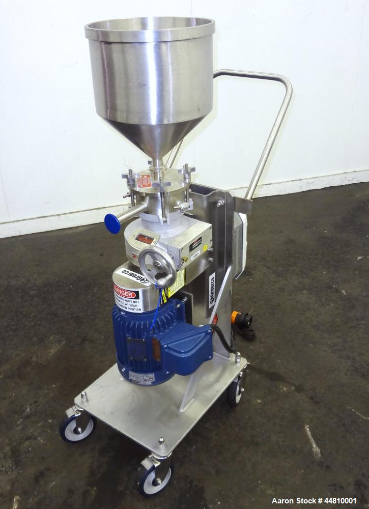 Used- Greerco Vertical Colloid Mill, Model W250VB, 316 Stainless Steel. Rated approximately 20 gallons per minute depending ...