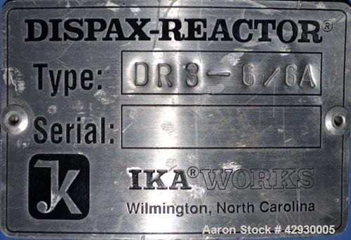 "Used- IKA Works Inline Dispax Reactor/High Shear, High Speed Disperser, Model DR3-6/6A, 316 Stainless Steel. Approximate 1"" ..."