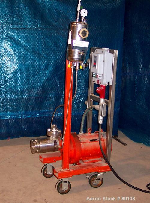 """Used- IKA Works Dispax Reactor/High Shear, High Speed Disperser, Model DR3-6/6A, stainless steel. Approximate 4"""" diameter x ..."""