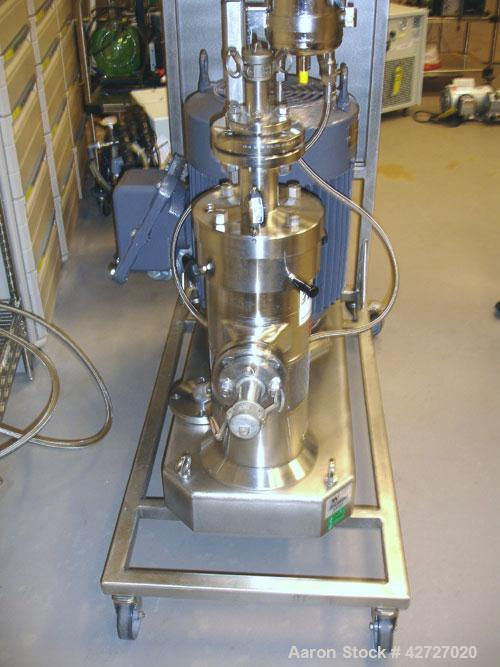 Used- IKA Works Colloid Mill, Model Dispax, Type MK2000/10, Stainless Steel. Rated 6 bar max pressure, 160 C max temperature...