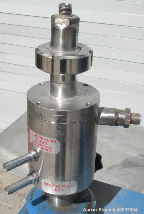 Used- IKA Works Colloid Mill, Type MK2000/4, 304 Stainless Steel. Rated approximately 1.5 gallons per minute nominal flow. J...