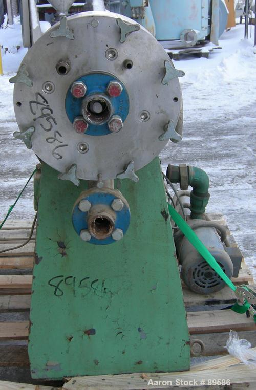 Used: Stainless Steel Patterson Industries Colloid Mill, size 10M, type HTGA