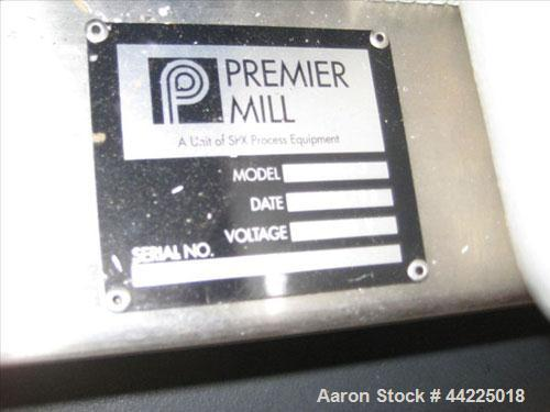Used- Premier Inline Mill, Model MXS-3, Stainless Steel. 5 Hp, 208-230/460 volt, 3475 rpm motor. With seal pot, start/stop s...