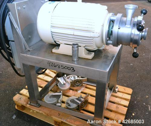 Used- Probst & Class PUC Colloid Mill, Type K160/E, 316 Stainless Steel. Approximate 5'' diameter chamber with a manually ad...
