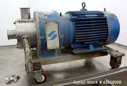 """Used- Silverson High Shear In-Line Mixer, Model 600LS, 316 Stainless Steel. Approximately 5-1/16"""" diameter square hole high ..."""