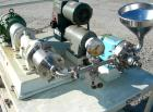 USED: Charlotte colloid mill, model SD2, 316 stainless steel, sanitary design. Jacketed chamber. Approx 2-3/4