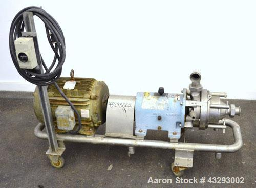 Used- Waukesha Colloid Mill, Model MS, 316 Stainless Steel.  Nominal capacity 6.5 to 33.3 gallons per minute depending on pr...