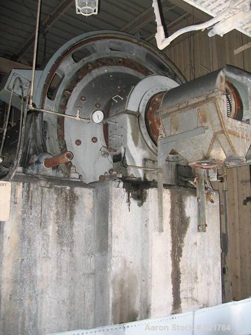 "USED: Kennedy Van Saun Corporation, Danville PA, 6'0"" diameter x 15'long ball mill. Ring gear mill, wet grinding, 9 ton lime..."