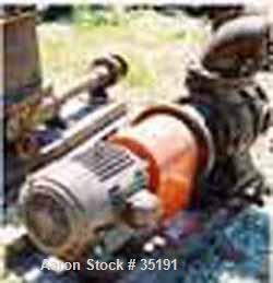 "Used- Dorrco Sulzer Disintegrator, 8"" x 6"", Carbon Steel. 10 hp U.S. motor, 230/460/3/ 60/1155 rpm, 256 T-frame."