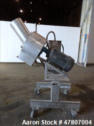 "Used- Angle Disintegrator, 304 Stainless Steel. Approximate 13-3/4"" diameter x 3-3/4"" deep grinding section, housing approxi..."