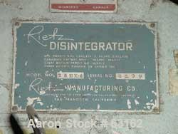 "Used- Rietz Angle Disintegrator, Model RADK-4, Stainless Steel. 4"" Diameter rotor, 3"" inlet and discharge, 1.5/7.5 hp motor ..."