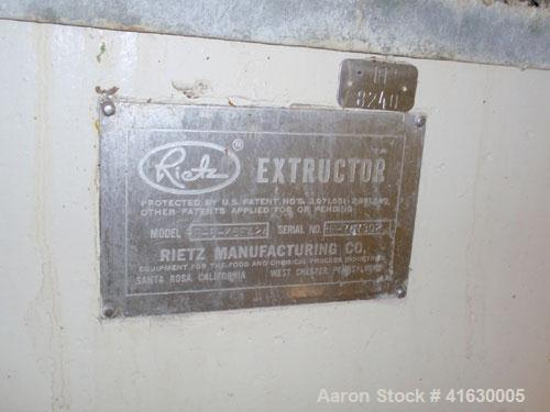 "Used- Rietz Extructor, Model RE6 K5F42, Stainless Steel. 6"" diameter x 36"" long screw, jacketed barrel, 5"" x 6"" feed section..."