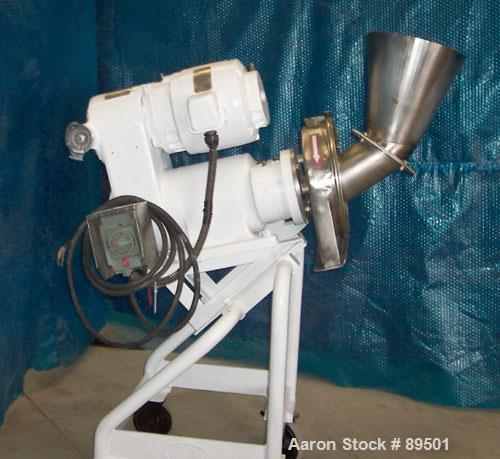 """USED: Reitz angle disintegrator, model RP-6-K115, 304 stainless steel. 6"""" diameter x 2"""" deep cutting chamber with 2 knife ro..."""