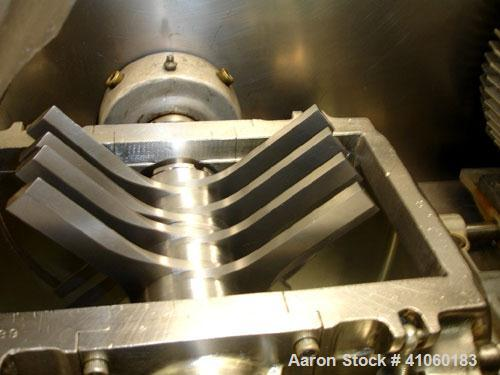Used- Fitzpatrick Fitzmill, Model DASO6. Stainless steel constuction, fixed blades, pan feed with 7.5 hp 230/460 volt, on le...