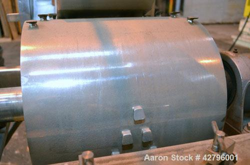 Used- Fitzpatrick GuiloRiver, Model 14LX14D, 304 Stainless Steel. 14 Diameter x 14 wide rotor with riving pins. Hinged cover...