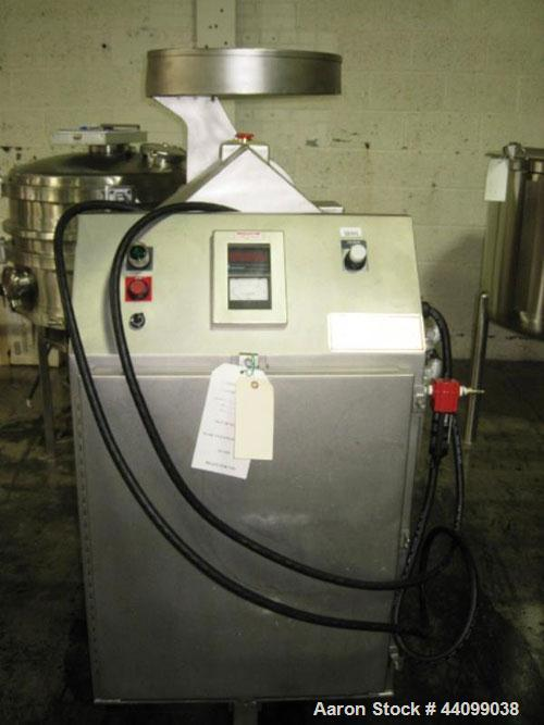 Used- Fitzpatick Sanitary Fitzmill, Model D6A. Polished, fixed knives, pan feed. Driven by a 5hp, 230/460 volt motor with VF...