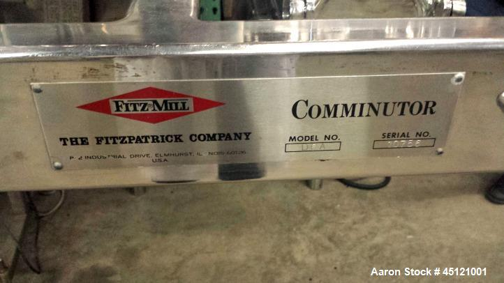 Used-Fitzpatrick Model D6A Fitzmill