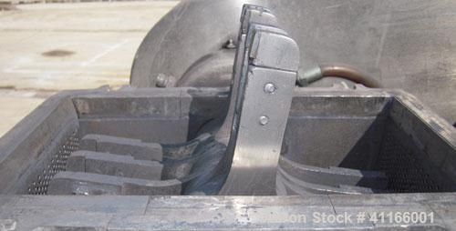 """Used- Fitzpatrick Fitzmill, Model DASO6 , 316 stainless steel. 11 1/4"""" x 6 1/4"""" chamber, (16) bolt on 15-5 PH single edge bl..."""