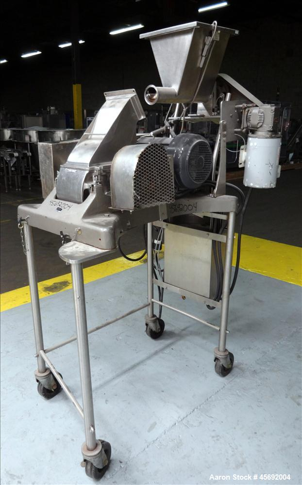 Used- Fitzpatrick Fitzmill, Model DAS06. (16) Impact/knife swinging blades, driven by 5 hp, 3/60/208-230/460 volt, 1755 rpm ...