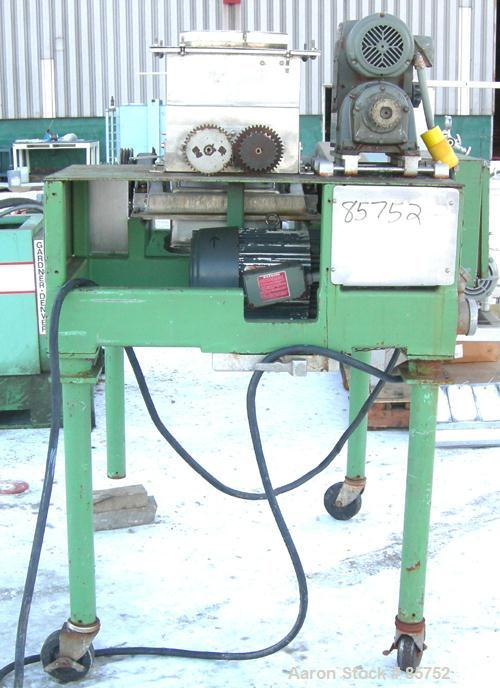 "Used- Fitzpatrick Fitzmill, Model DASO-12, 304 Stainless Steel. (32) fixed impact/knife blades. 13"" x 11"" cutting chamber, b..."