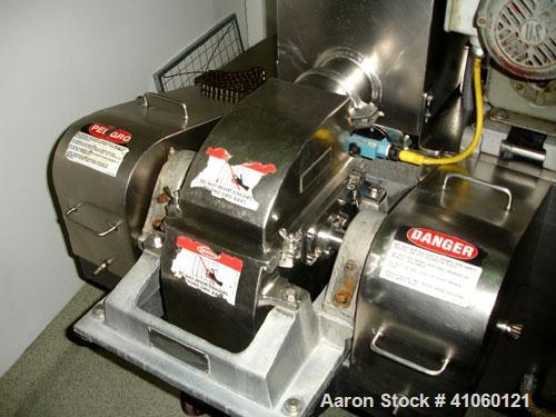 Used- Fitzpatrick Fitzmill, Model DASO6, Stainless Steel. Fixed blades, reversible chamber, screw feed with motors, serial #...