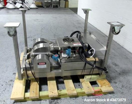 Used- Fitzpatrick Fitzmill, Model DASO6. Stainless steeel construction, single screw feeder less motor, fixed knives, outboa...