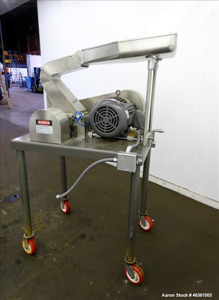 """Used- Fitzpatrick Fitzmill, Model DASO6, 316 Stainless Steel. (16) 10-1/2"""" diameter impact/knife fixed 410/16 stainless stee..."""