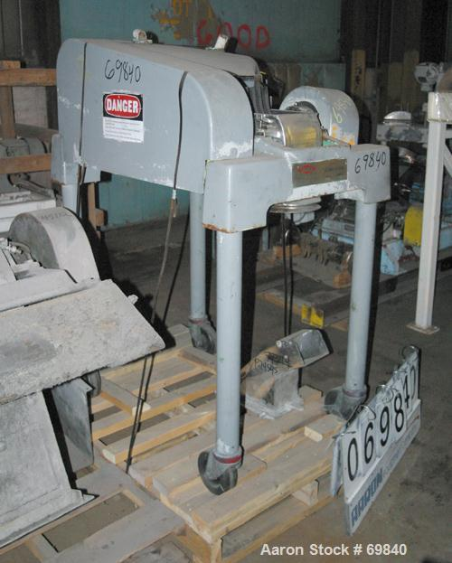 "Used- Fitzpatrick Fitzmill, Model DASO6, Stainless Steel. (16) Double sided fixed knives, 6"" x 11"" cutting chamber. Approxim..."