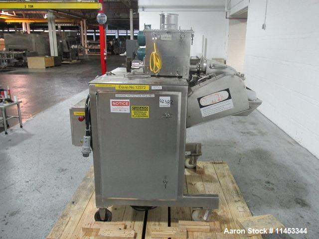 Used- DKASO 12 Fitzmill. Stainless steel construction, reversible chamber with fixed blades, outboard roller bearings, twin ...