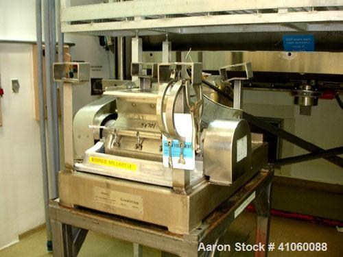 Used- Fitzpatrick Fitzmill, Model DKASO 12, stainless steel construction, fixed knives, reversible chamber, gravity feed, 15...