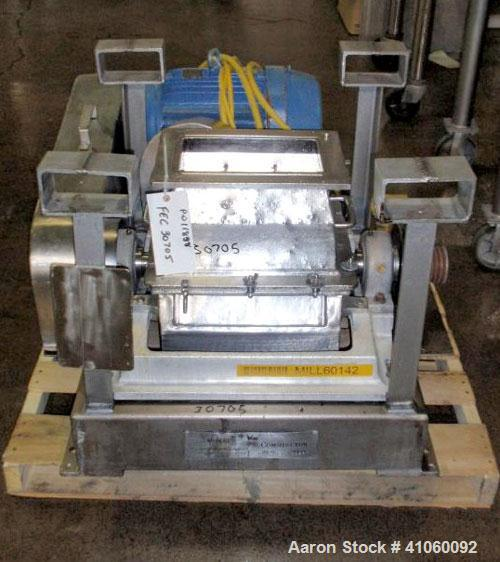 Used- Fitzpatrick Fitzmill, Model DKASO12, stainless steel construction, (32) knife/impact fixed knives, reversible chamber,...