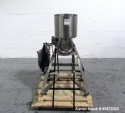 Used- Fitzpatrick Homoloid Mill, Model J. Stainless steel product contact surfaces, fixed knives, gravity feed, on stand wit...