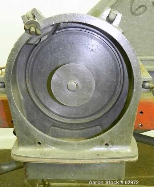 "Used- Fitzmill Homoloid Mill, Model JT, 316 Stainless Steel. 8"" Diameter x 2"" deep cutting chamber (missing rotor and cuttin..."