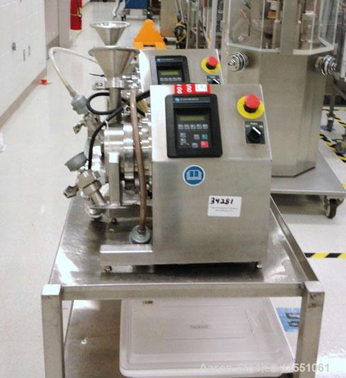 Used- Fitzpatrick Fitzmill, Model L1A, Stainless Steel. .5 hp main drive with Allen Bradley VFD controller, PCS product cont...