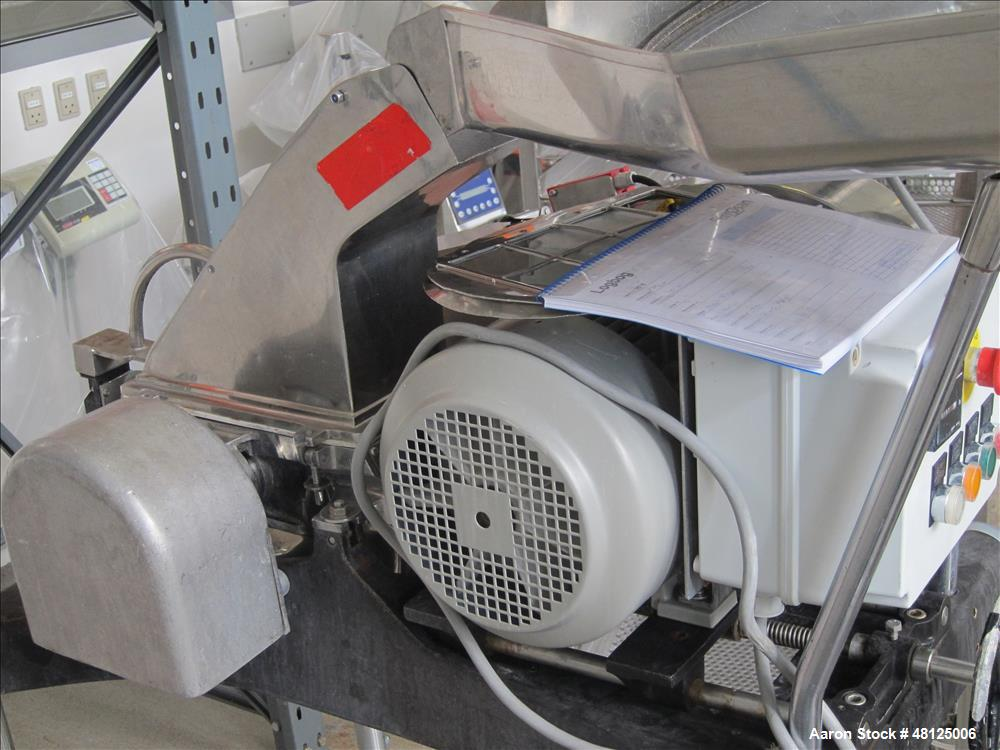 Used- Manesty/Fitzmill hammer mill, type X 18S, stainless steel construction, pan feed on base with 8.25/5.5 KW-400/690volt/...