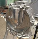 Used- Fitzpatrick Homoloid Mill, Model JT, 304 stainless steel. 8'' diameter x 2'' deep chamber, (12) 410 stainless steel sw...
