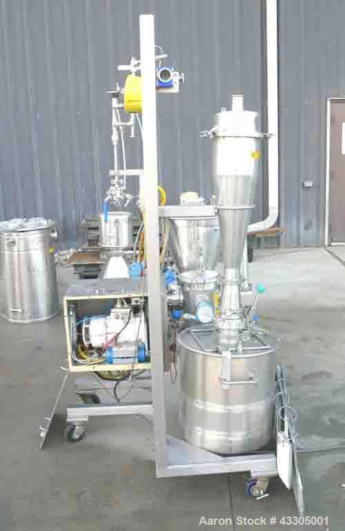 Used-Alpine Bed Opposed Jet Mill, Model 140AFG.  316 Stainless steel, 10.7 liter jacketed chamber rated 2.3 bar at 123 deg C...