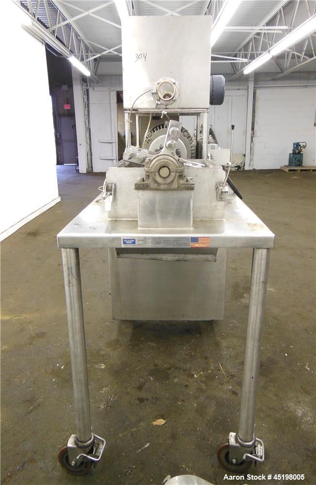 Used- Stainless Steel Fluid Air Impact/Screening Mill, Model 014