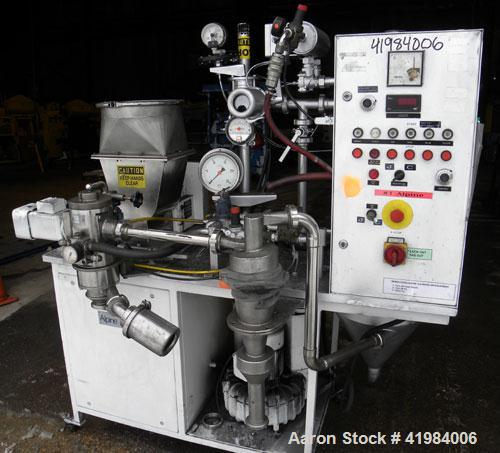 Used- Alpine Fluidized Bed Opposed Jet Mill System, type 100AFG, 321 stainless steel, consisting of: (1) Alpine jet mill, mo...