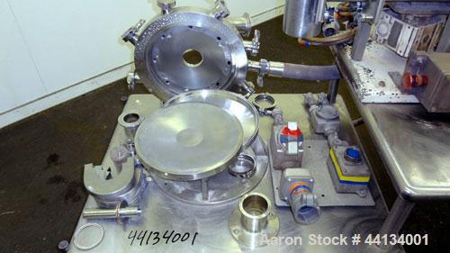 "Used- Jet Pulverizer Micron-Master Jet Mill, Size 12.  304 Stainless steel and tungsten carbide product contact areas. 12"" D..."