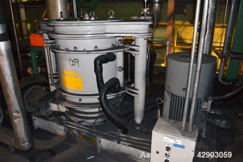 Used-Kawasaki Kryptron Eddy Mill, driven by a 50 hp, 3/60/230/460 volt, 1780 rpm motor.
