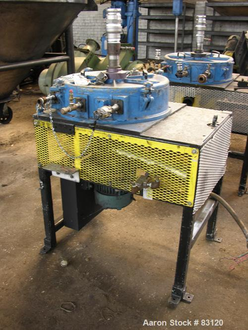 """USED: Majac Donaldson Acucut Classifier, model B-18. Rated .5-50 microns at 20-400#/hour, 150 cfm at 10"""" hg max, 7.5 hp 230/..."""