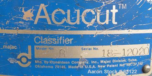 Used- Majac Donaldson Acucut Classifier, Model B