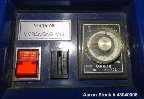 Used- McCrone Research Associates Micronising Mill. Designed for wet or dry grinding, even partical distribution. Reduces tr...